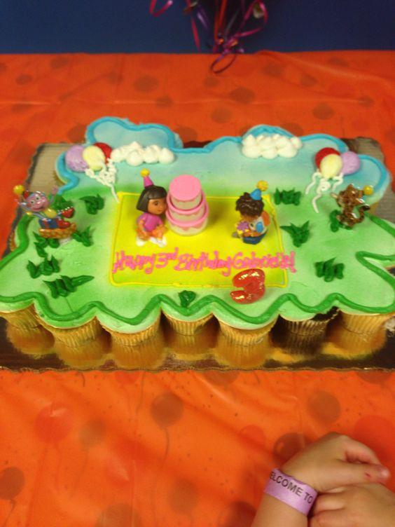 Publix Pull Apart Cupcake Cake Via My Little Pony Rainbow Birthday