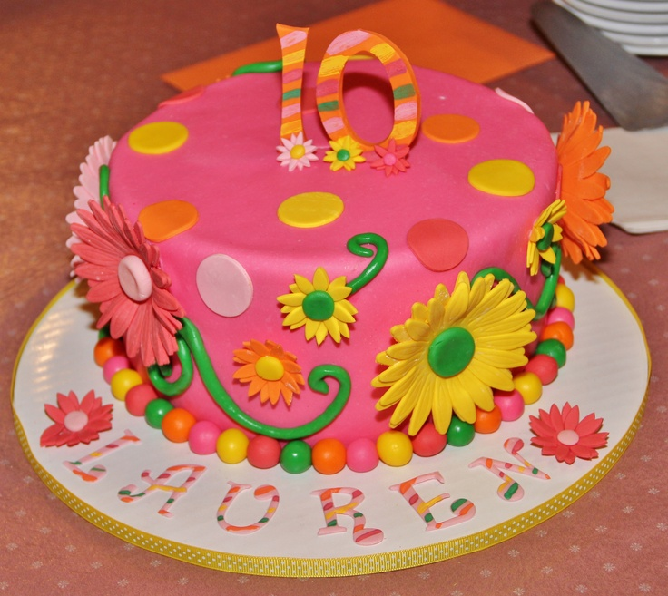 6 10 Year Birthday Cakes That Matches Decorations Photo Recipe