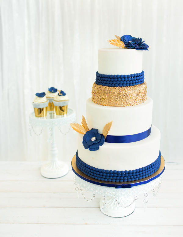 10 Ice Blue And Gold Wedding Cakes Photo Blue And Silver Winter