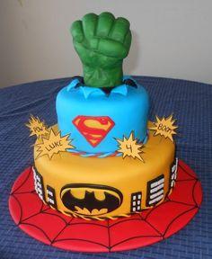 Magnificent 9 Target Superman Cakes Photo Superman Batman Spider Man Funny Birthday Cards Online Alyptdamsfinfo
