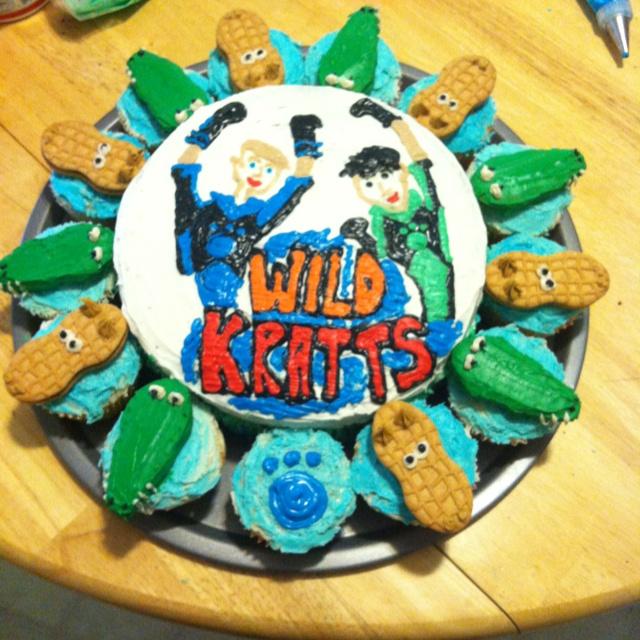 Pleasing 11 Wild Birthday Cupcakes Photo Wild Kratts Birthday Cake Wild Personalised Birthday Cards Akebfashionlily Jamesorg