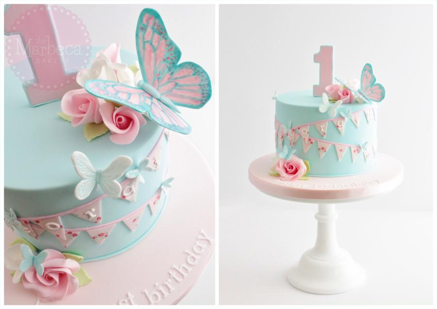 Awe Inspiring 7 Baby Girl Butterfly Birthday Cakes Photo Butterfly Baby Shower Personalised Birthday Cards Petedlily Jamesorg