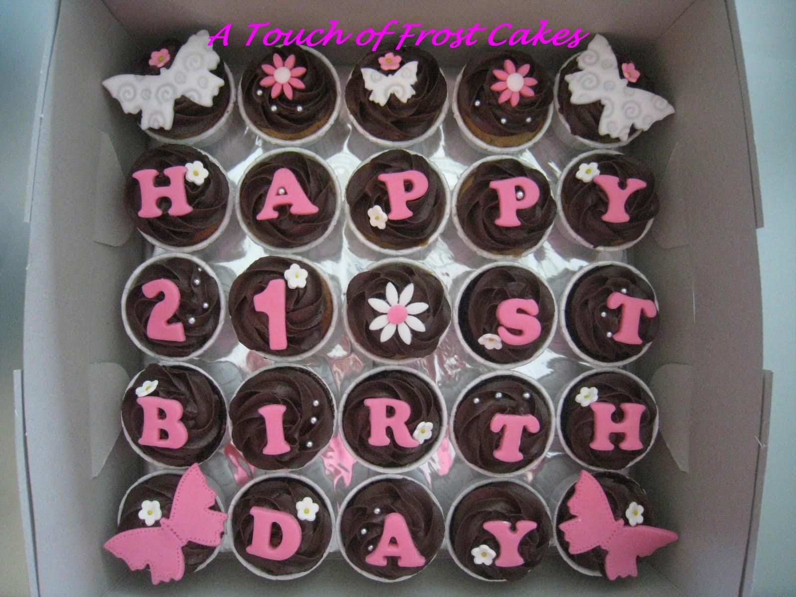 12 for her 21st birthday cupcakes photo - 21st birthday cupcake