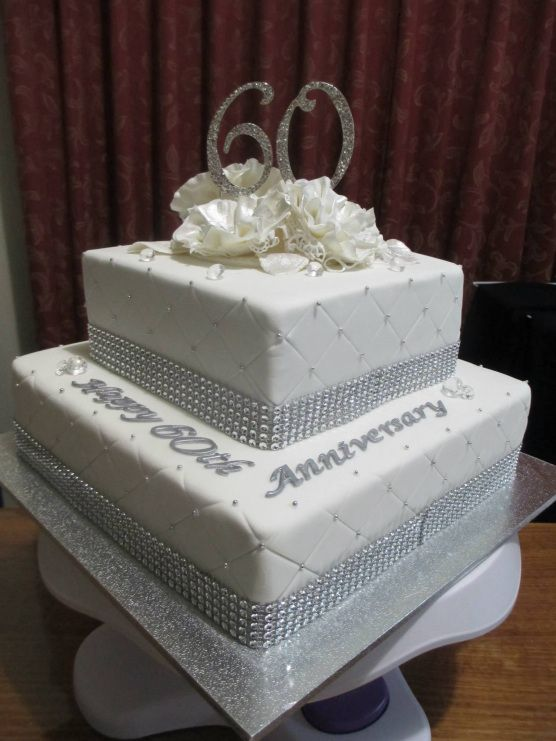 10 Sixtieth Wedding Anniversary Cakes Photo - 60th Wedding ...