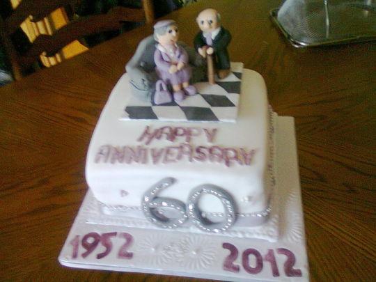 10 Sixtieth Wedding Anniversary Cakes Photo 60th Wedding