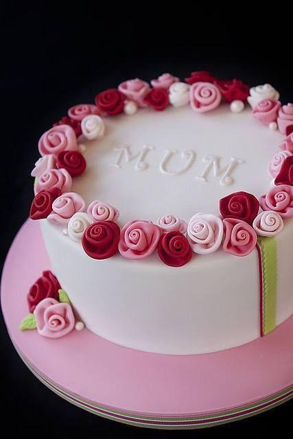 70th Birthday Rose Cake