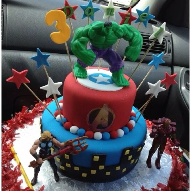 Peachy 8 Avenger Party Cakes Photo Avengers Birthday Cake Avengers Funny Birthday Cards Online Drosicarndamsfinfo