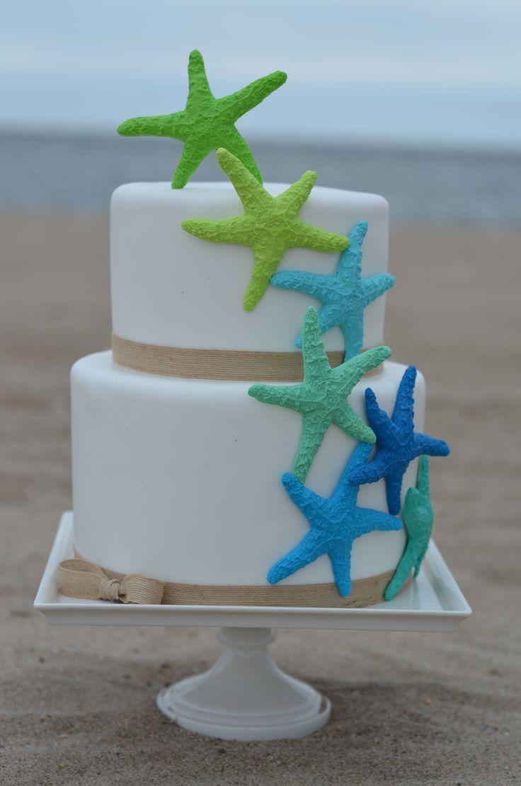 Swell 8 Starfish Themed Birthday Cupcakes Photo Mermaid Cupcakes Ideas Personalised Birthday Cards Akebfashionlily Jamesorg