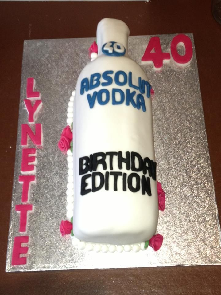 Pleasant 13 Birthday Cakes Made Of Vodka Drinks Photo Birthday Cake Vodka Funny Birthday Cards Online Fluifree Goldxyz