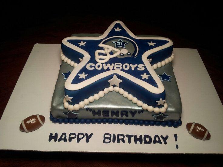 Fabulous 12 Dallas Cowboys Decorated Birthday Cakes For Men Photo Dallas Funny Birthday Cards Online Alyptdamsfinfo