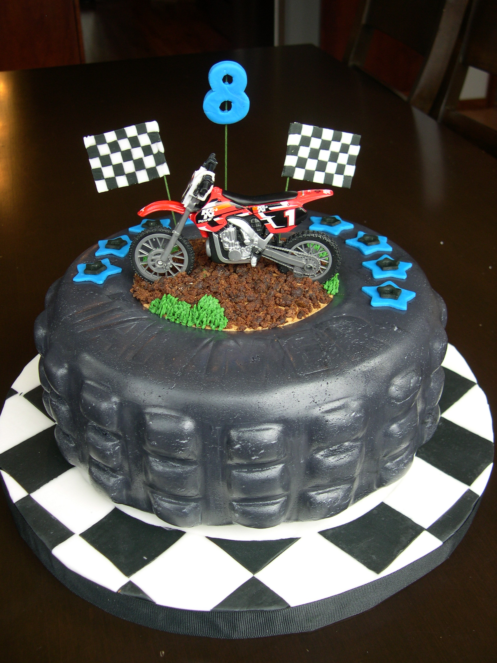 Outstanding 9 Boys Motorbike Cakes Photo Dirt Bike Birthday Cake Happy Funny Birthday Cards Online Alyptdamsfinfo