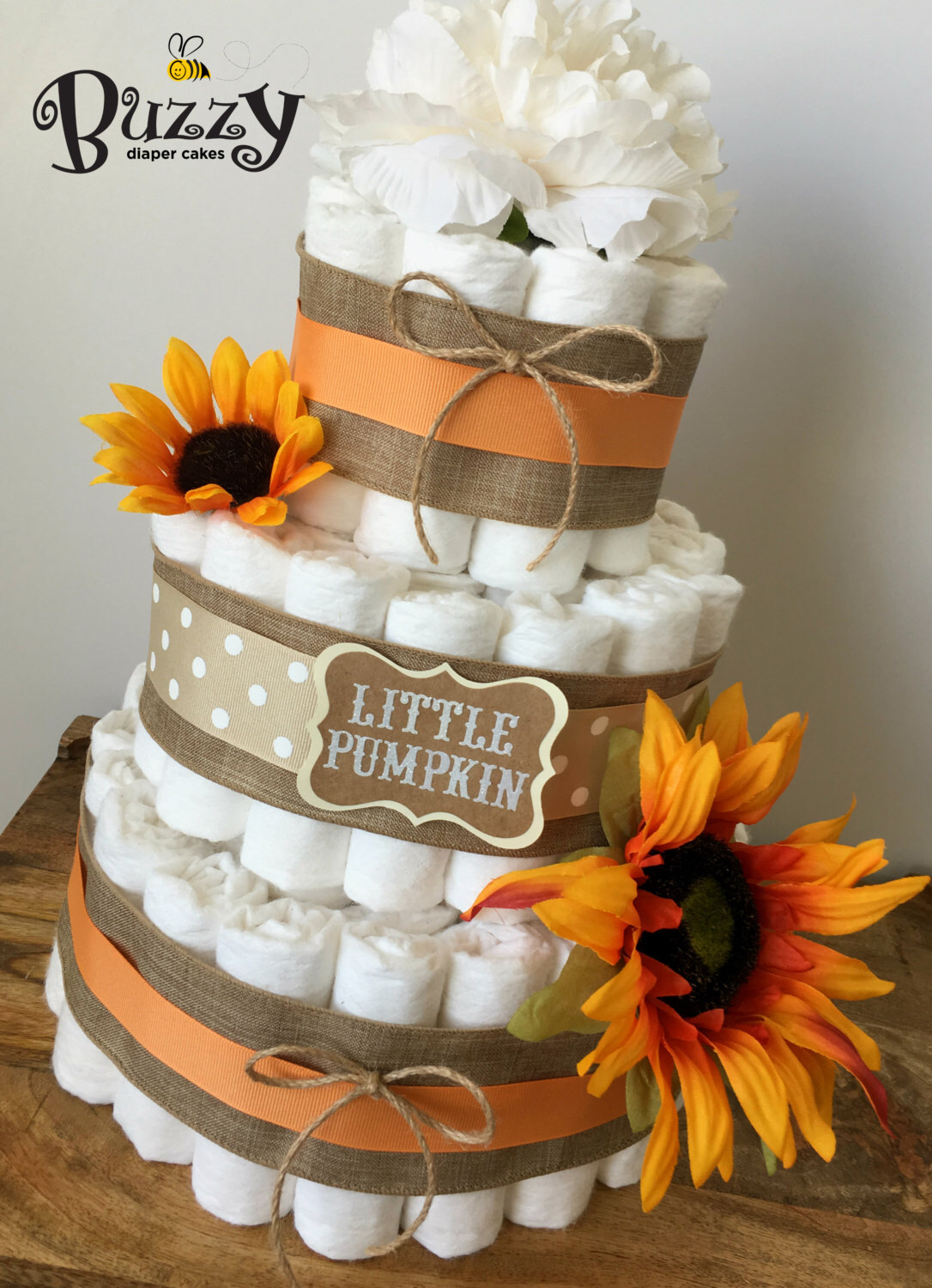 Fall themed diaper cakes photo fall pumpkin baby shower