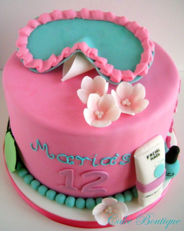 Groovy 12 Cakes For Little Girls Spa Themed Party Photo Girl Spa Personalised Birthday Cards Xaembasilily Jamesorg