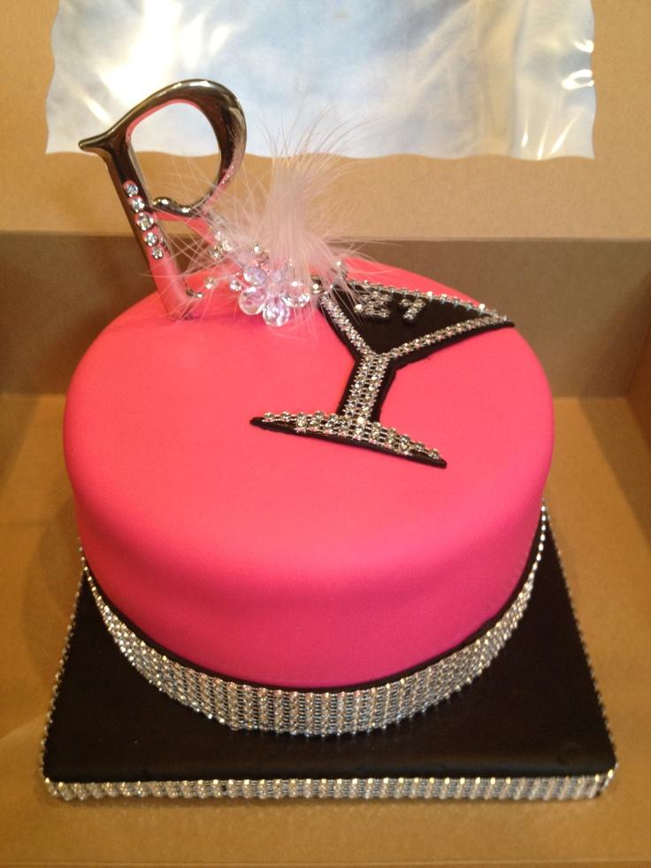 10 Blue Bling 21 Birthday Cakes Photo Happy Birthday Bling Cake