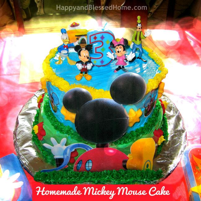 13 Homemade Mickey Mouse Birthday Cakes Photo Homemade Mickey