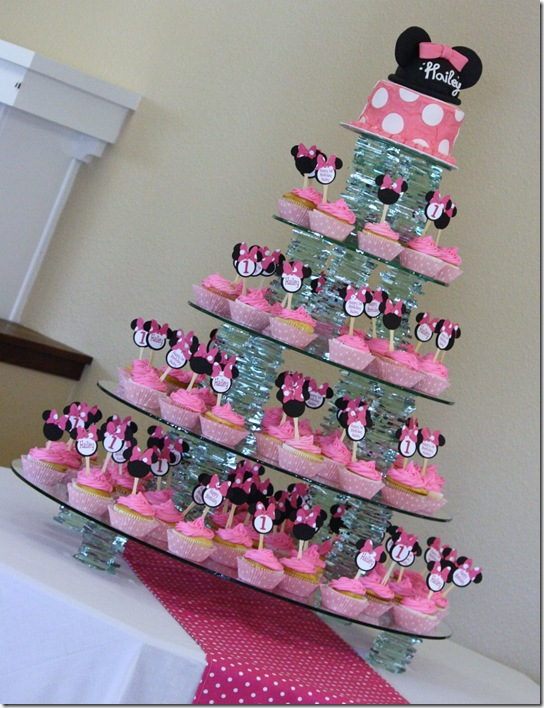 Remarkable 7 Minnie Mouse Birthday Cupcakes Ideas Photo Minnie Mouse Birthday Cards Printable Trancafe Filternl