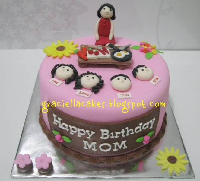 10 Mom Cakes For Bday Pics Photo Mom Birthday Cake Ideas Happy