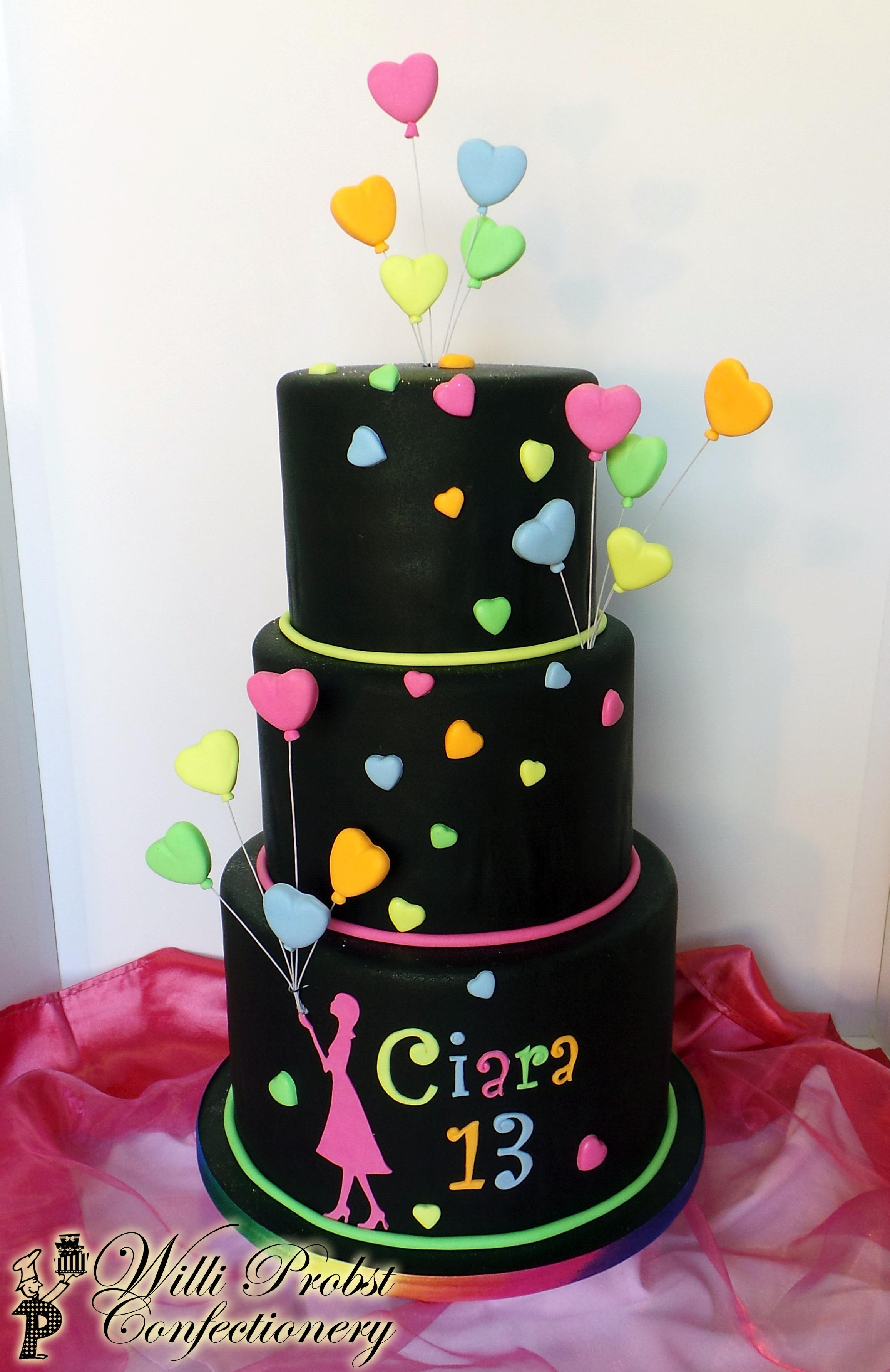 Magnificent 13 Neon Colored Birthday Cakes Photo Neon Zebra Print Cake Birthday Cards Printable Riciscafe Filternl