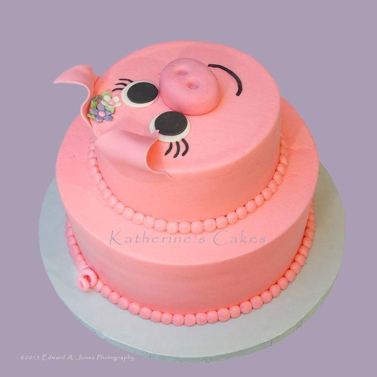 Stupendous 10 Girl Birthday Cakes Pigs Photo Pig Birthday Cake Pig Funny Birthday Cards Online Inifodamsfinfo