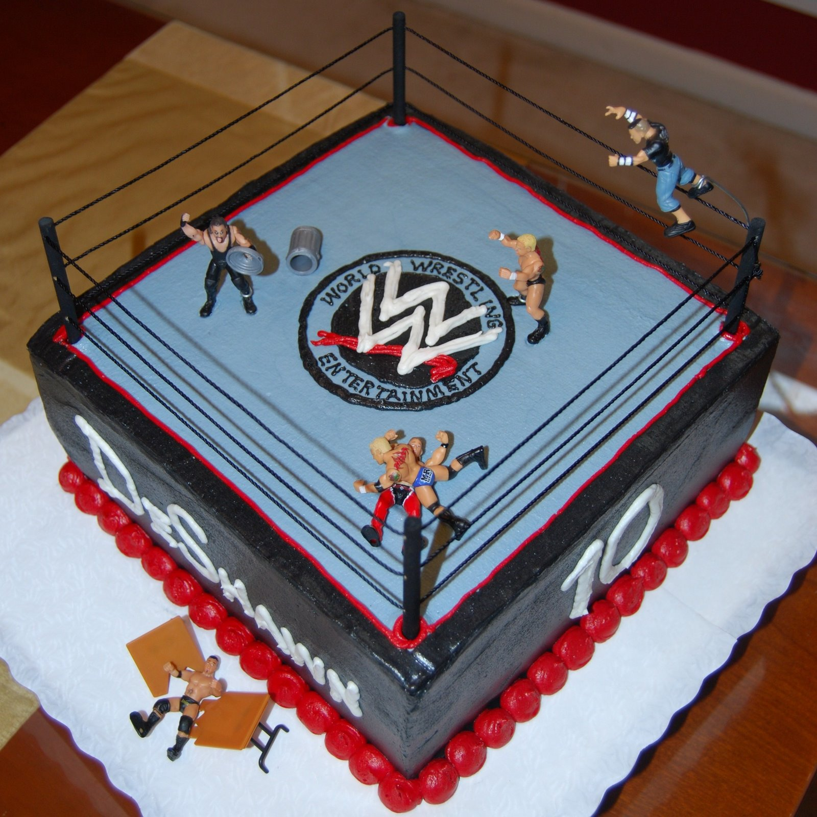 Excellent 13 Wwf Birthday Cakes Photo Wwe Birthday Cake Ideas Wwe Boys Personalised Birthday Cards Cominlily Jamesorg