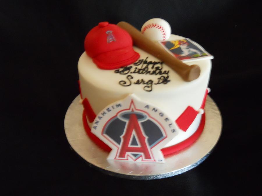 Fantastic 7 Angels Baseball Birthday Cakes Photo Angels Baseball Happy Funny Birthday Cards Online Fluifree Goldxyz