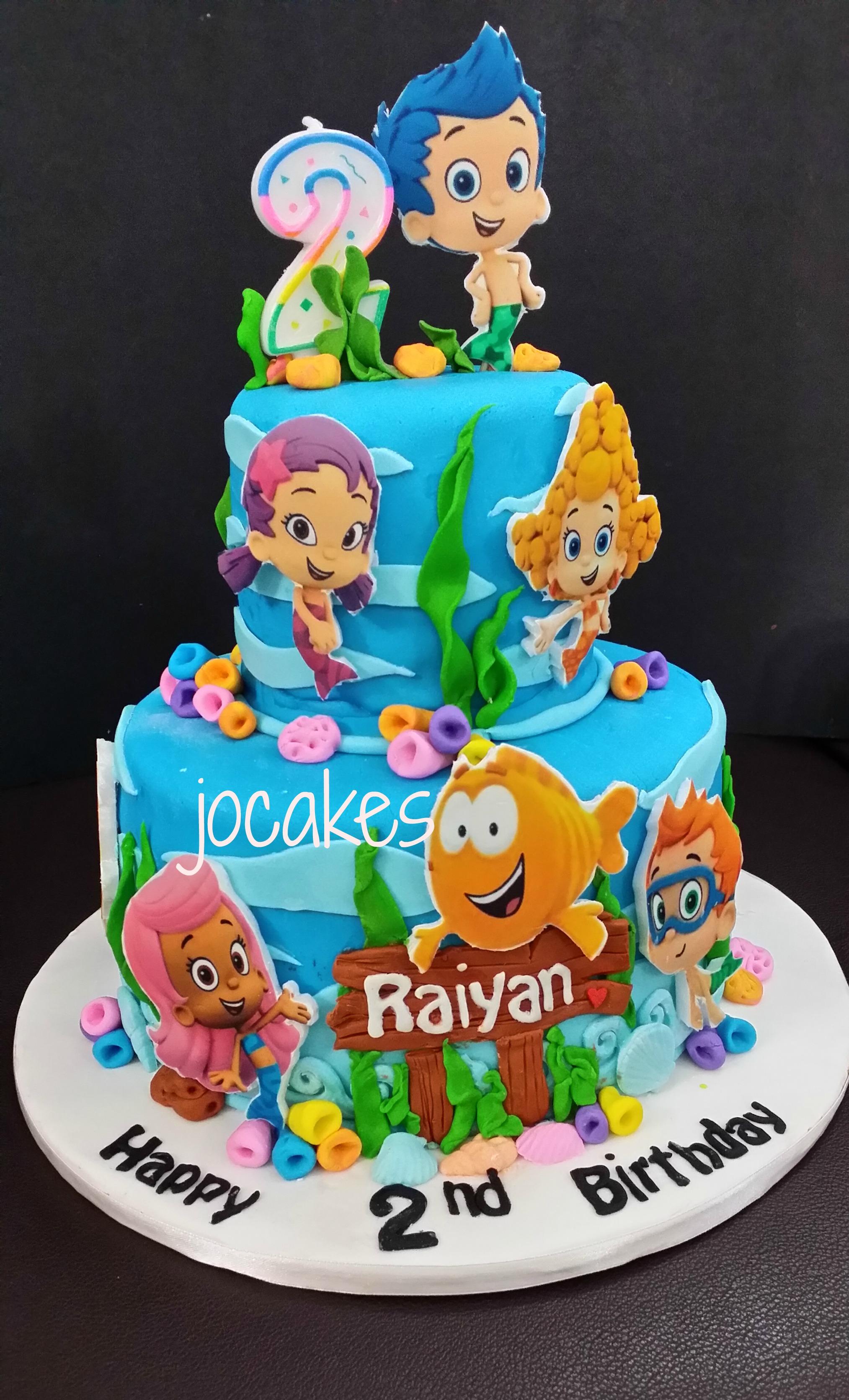 Enjoyable 12 Bubble Guppies Who Makes Cakes Photo Bubble Guppies Cake Birthday Cards Printable Inklcafe Filternl