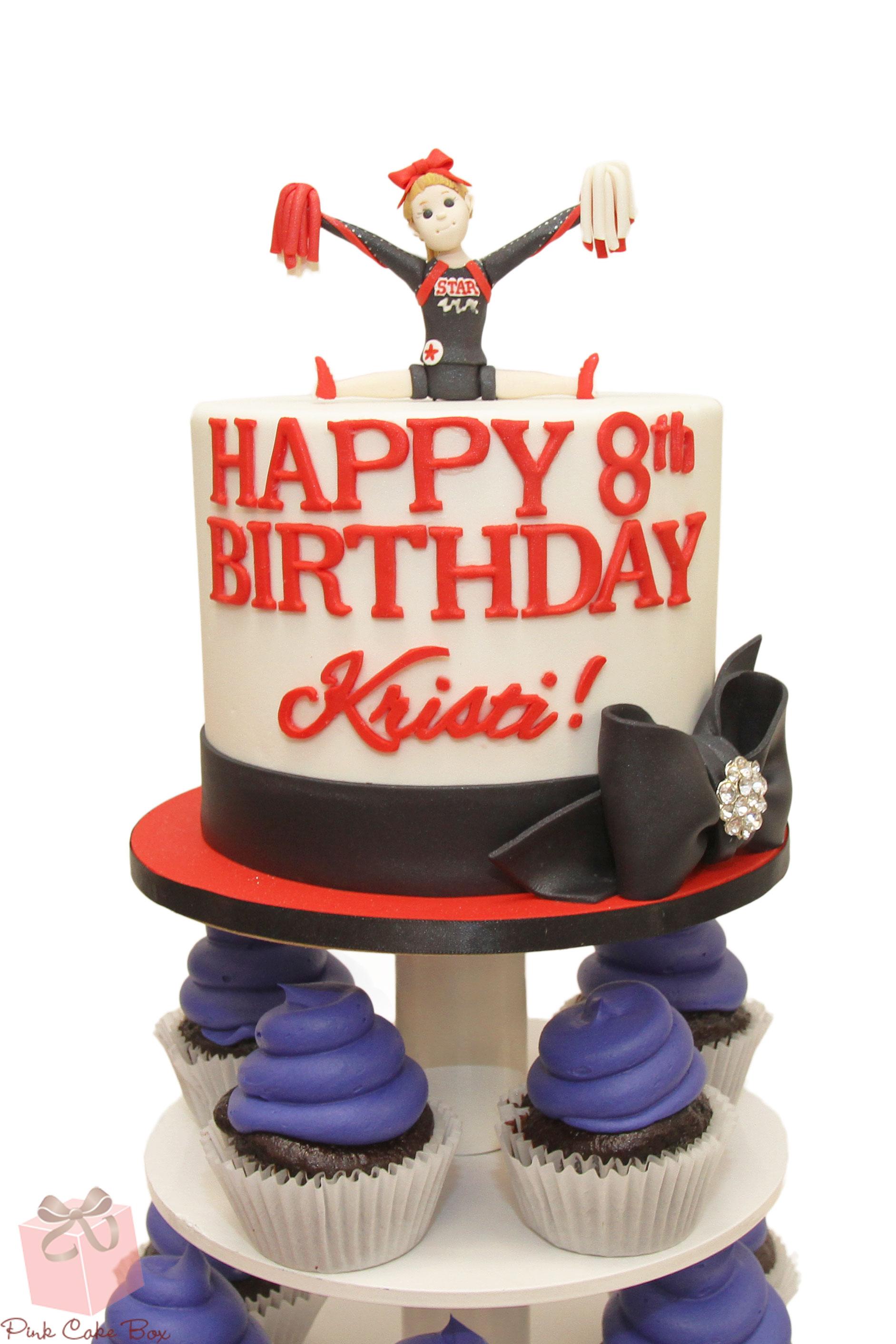 Cheerleader Birthday Cake Topper