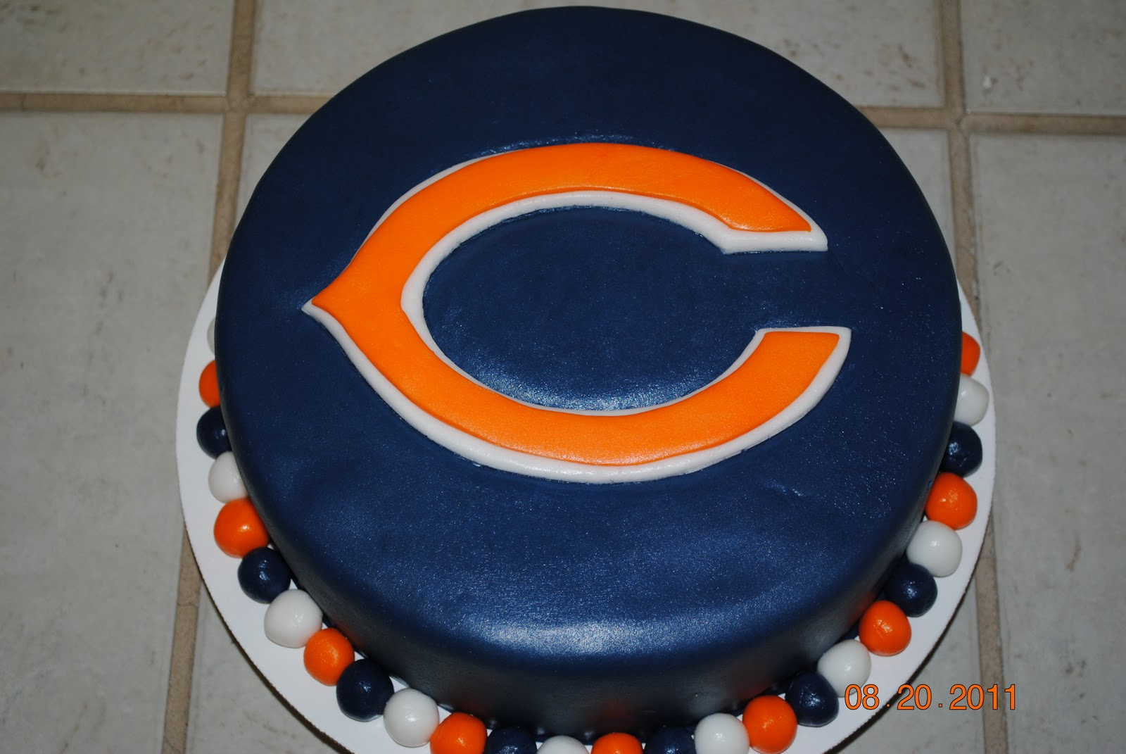 Pleasant 7 Chicago Bears Birthday Cakes And Decorations Photo Chicago Funny Birthday Cards Online Fluifree Goldxyz