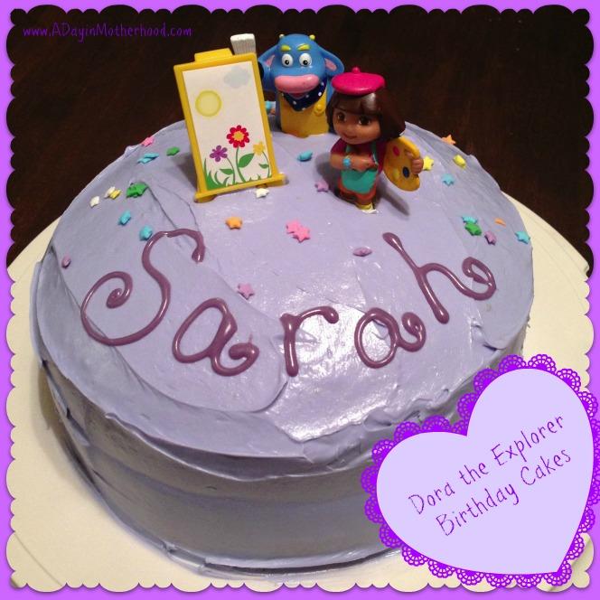 Cool 8 Dora Birthday Cakes From Grocery Store Photo Dora Explorer Personalised Birthday Cards Xaembasilily Jamesorg