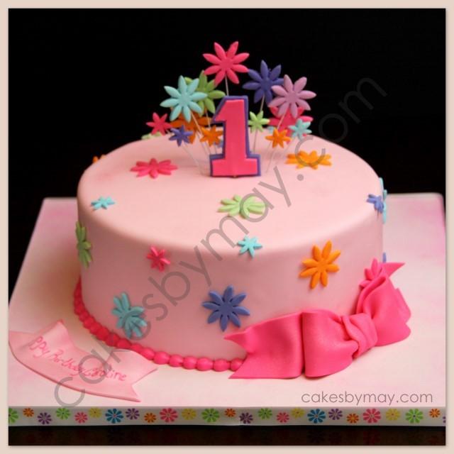 7 1 Layer Birthday Cakes For Girls Photo Girls 1st Birthday Cake