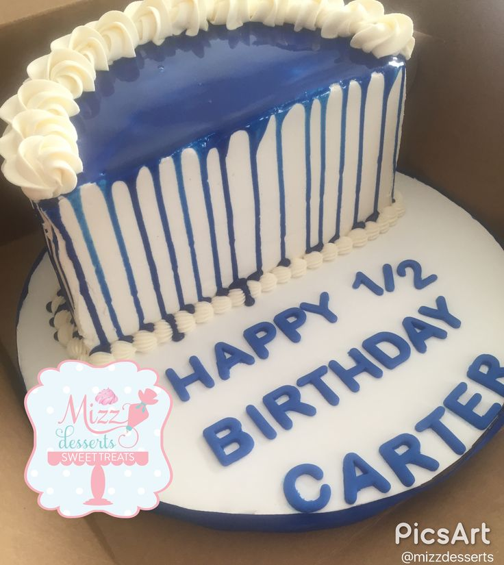 12 1 2 Half Birthday Cakes Photo