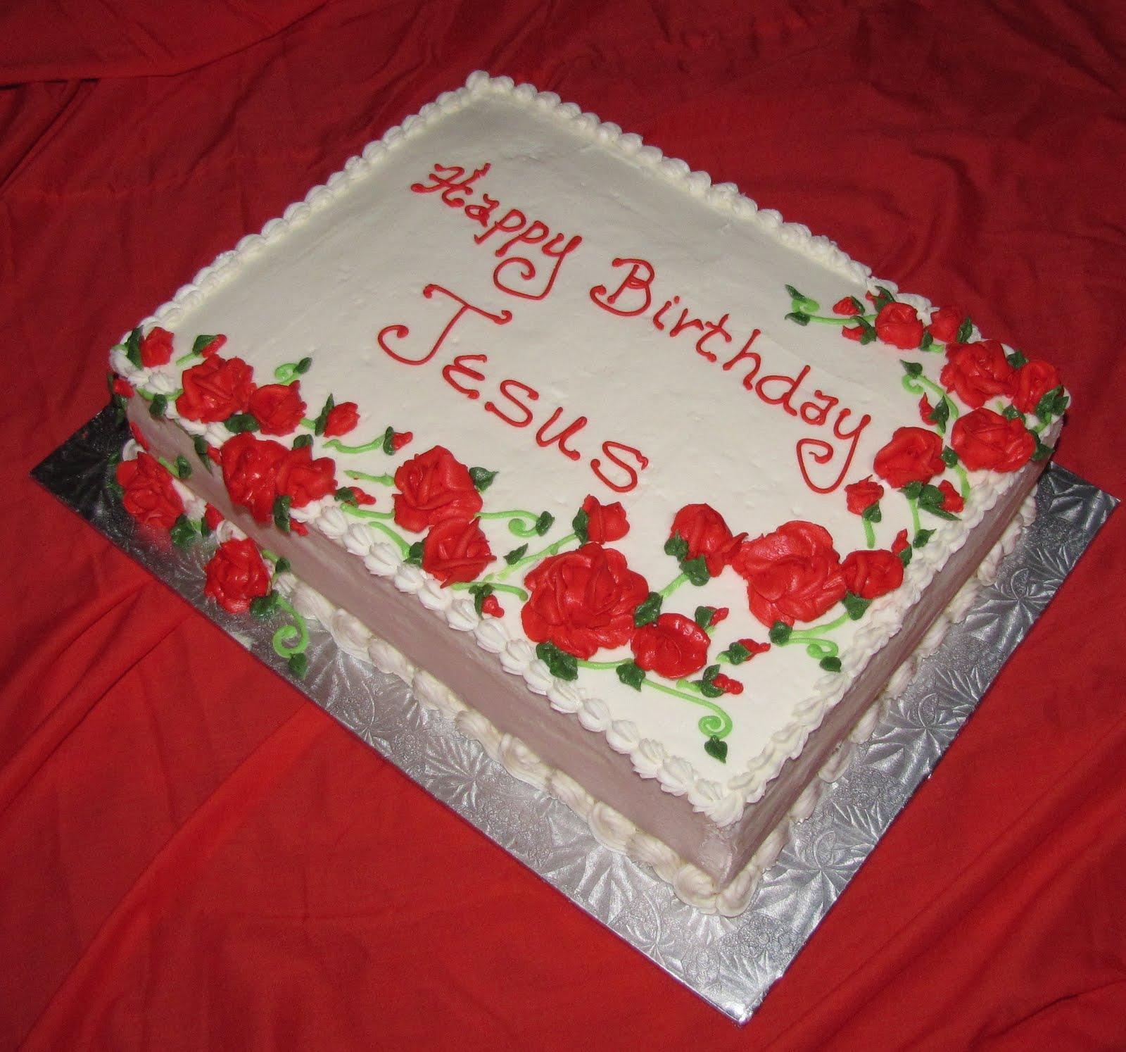 Swell 10 Christmas Jesus Birthday Cakes Photo Happy Birthday Jesus Birthday Cards Printable Benkemecafe Filternl