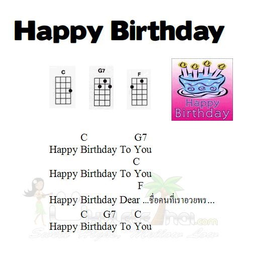 7 Happy Birthday Ukulele Cakes Photo Happy Birthday Song Ukulele