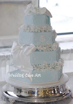 9 Blue Wedding Cakes With Initial J Photo Monogram Wedding Cake