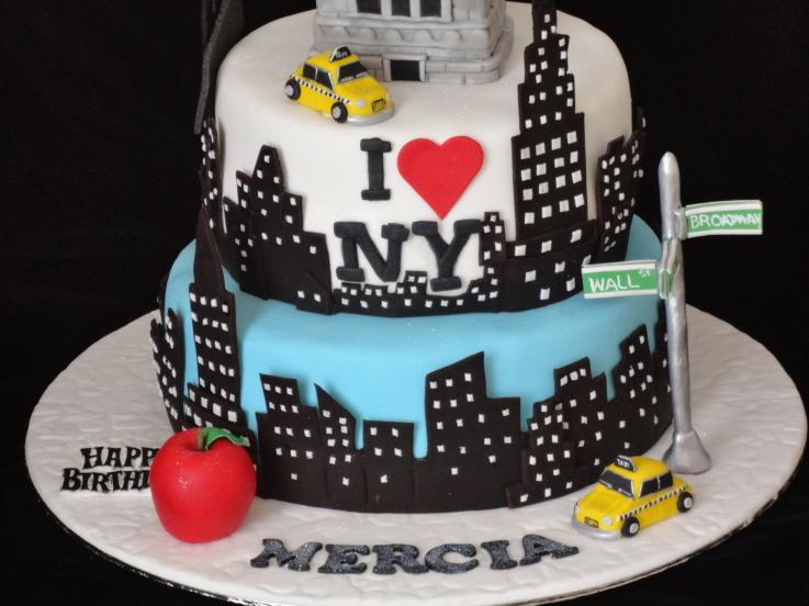 12 New York City Theme Cakes Ideas Photo New York City Cake Black