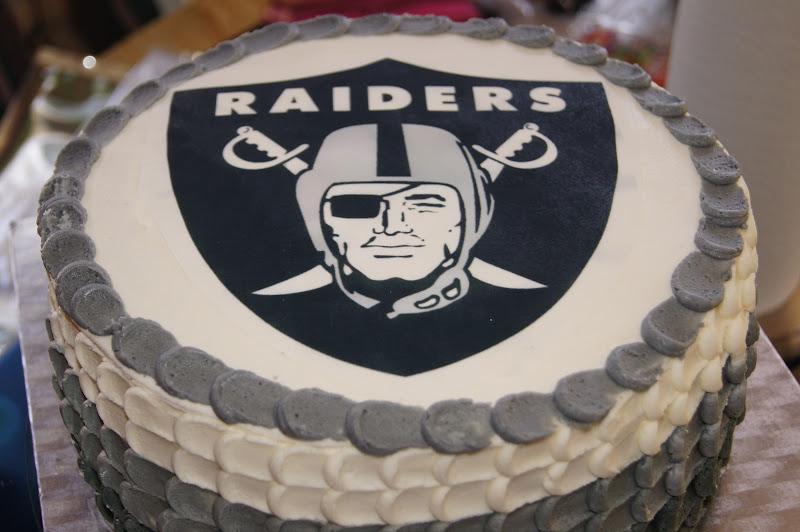 Stupendous 6 Raiders Sheet Cakes Photo Oakland Raiders Cake Raiders Baby Funny Birthday Cards Online Inifofree Goldxyz