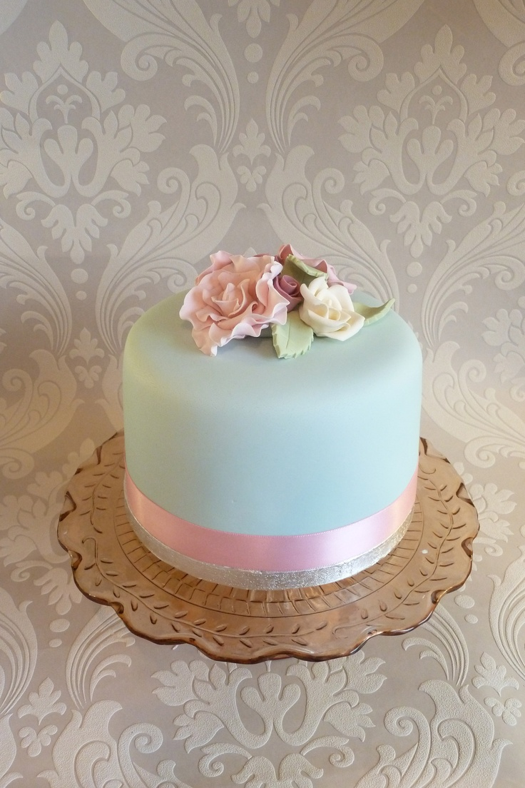 12 Party Single Layer Cakes Photo Pink Princess One Layer Wedding