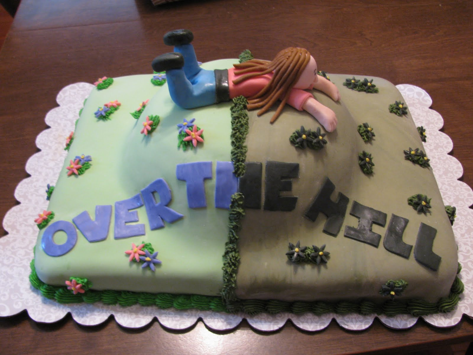 Astounding 12 Homemade Birthday Cakes Over The Hill Photo Over The Hill Funny Birthday Cards Online Aeocydamsfinfo