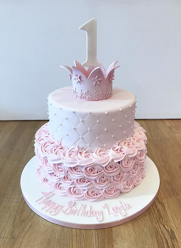 11 Princess Cupcakes 1st Birthday Cake Photo Princess First