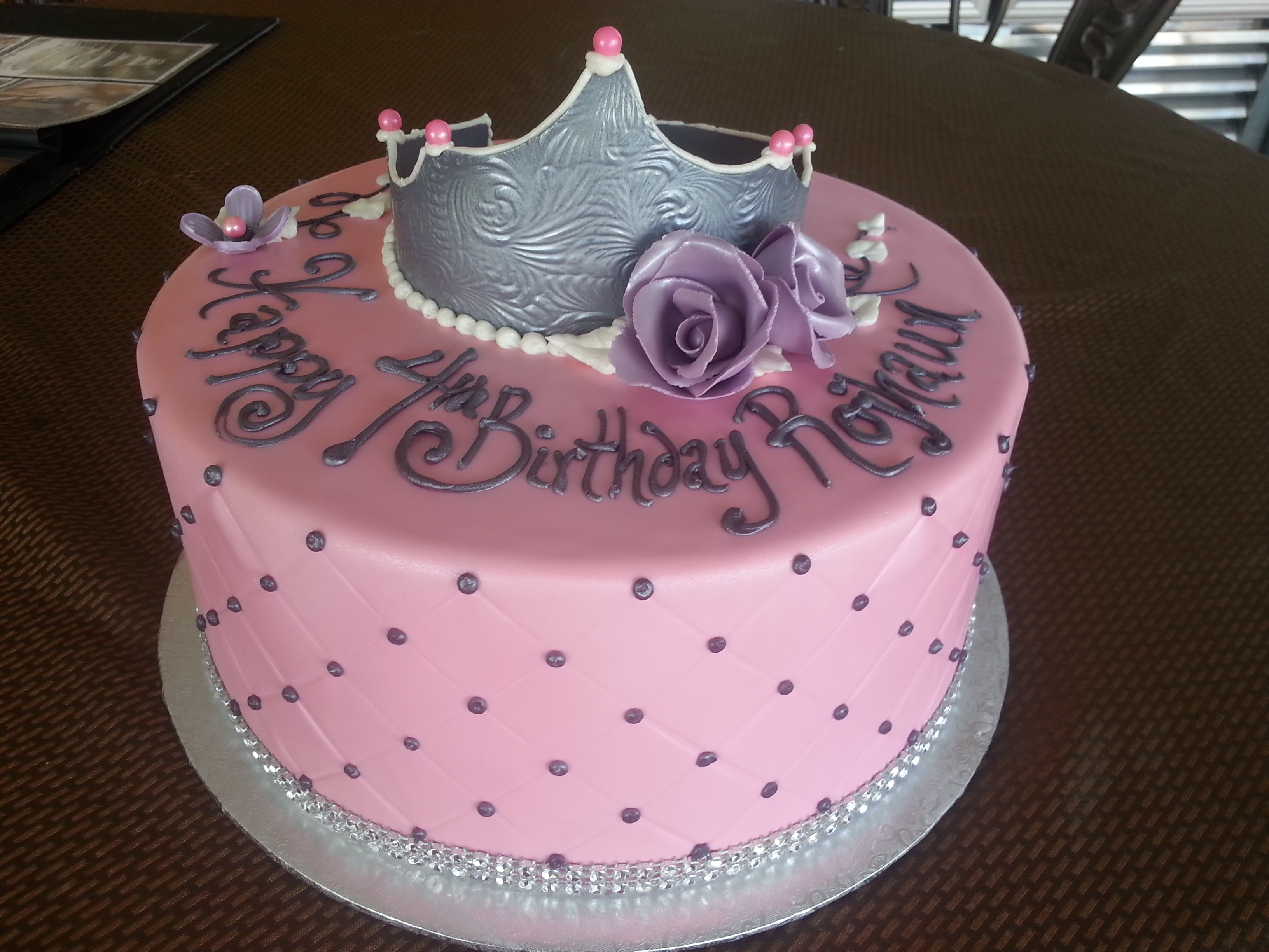 Wondrous 10 Princess Themed Birthday Cakes Photo Princess Theme Birthday Personalised Birthday Cards Veneteletsinfo