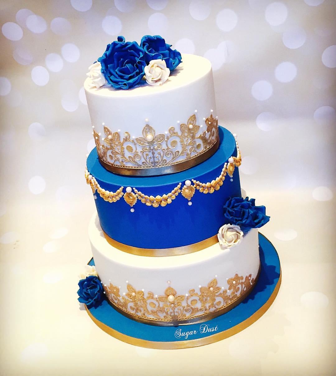 6 Royal Blue Xv Cakes Photo Tiffany Blue Royal Blue Quinceanera