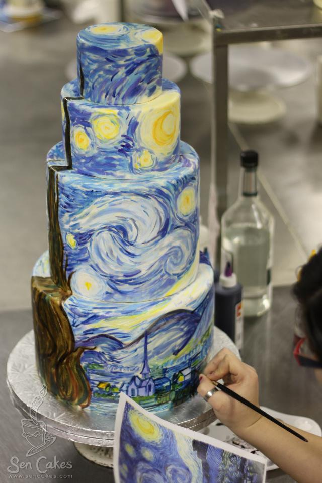 8 Night Wedding Cakes Photo - Starry Night Wedding Cake, Starry ...
