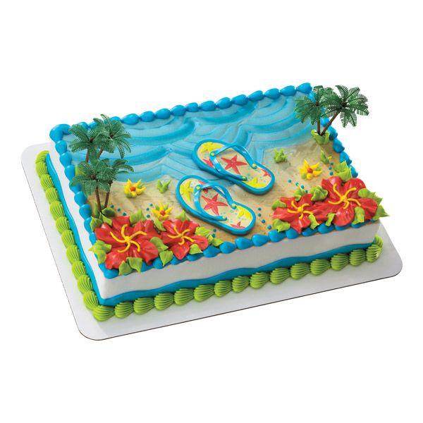 Summer Flip Flop Cake Publix