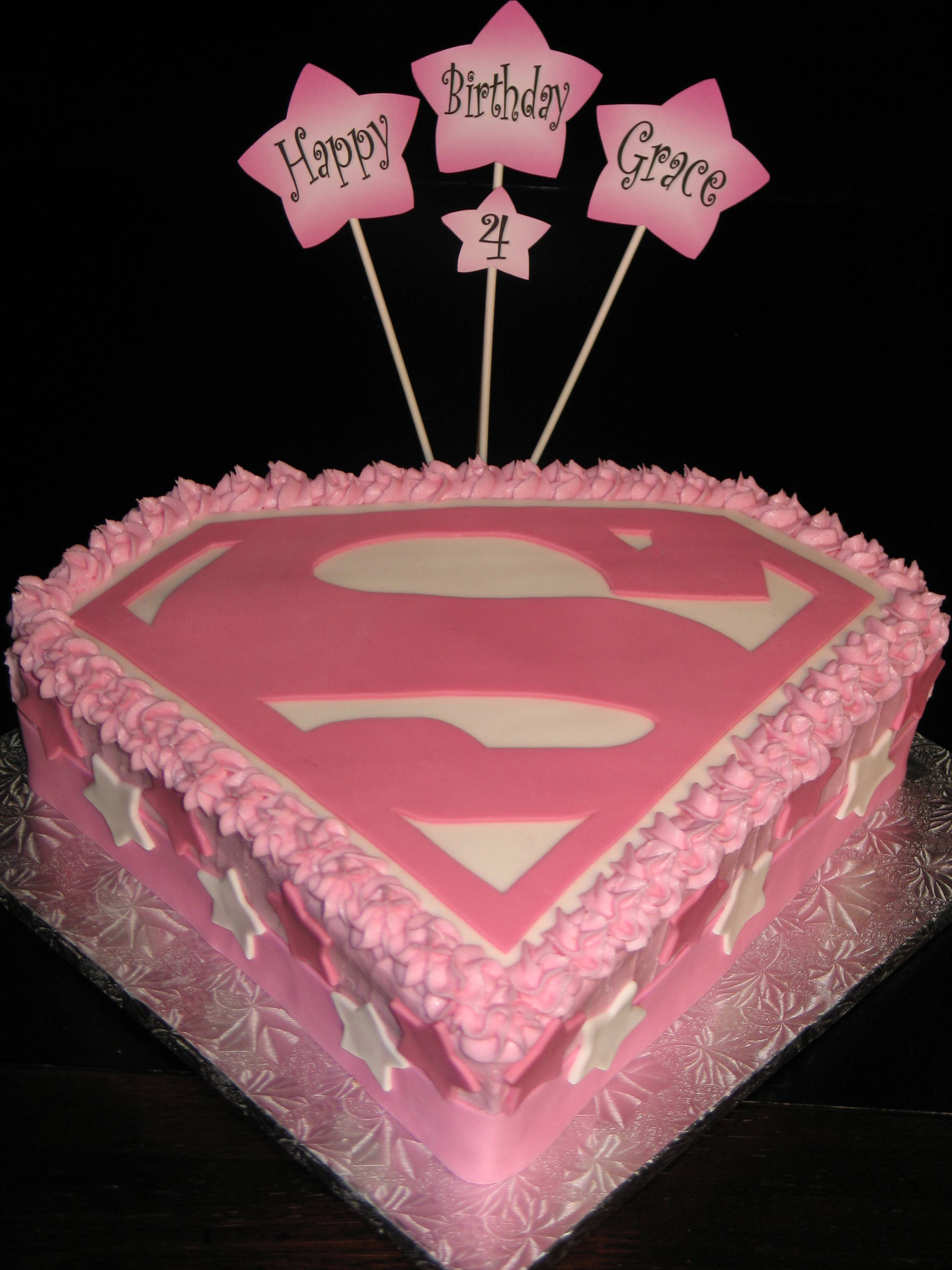 Tremendous 13 Supergirl Birthday Cakes Photo Super Girl Birthday Cake Funny Birthday Cards Online Elaedamsfinfo