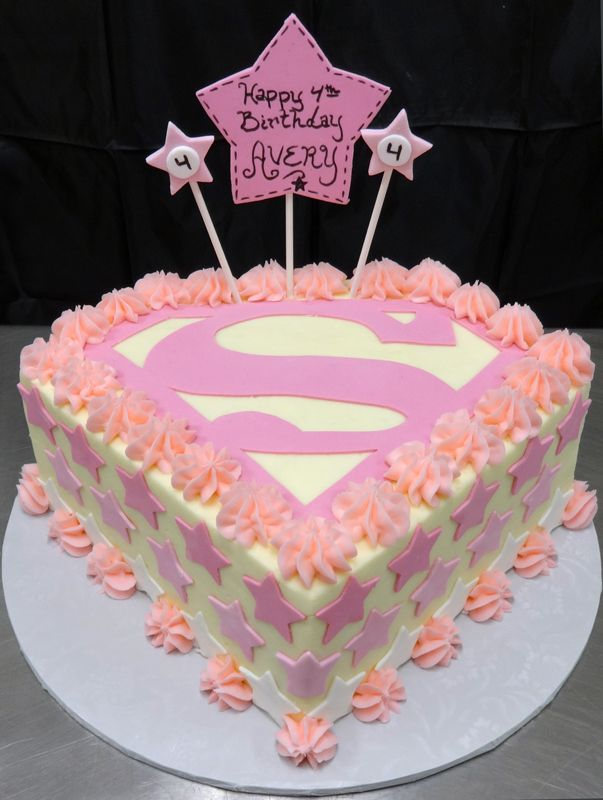Supergirl Birthday Cake Ideas