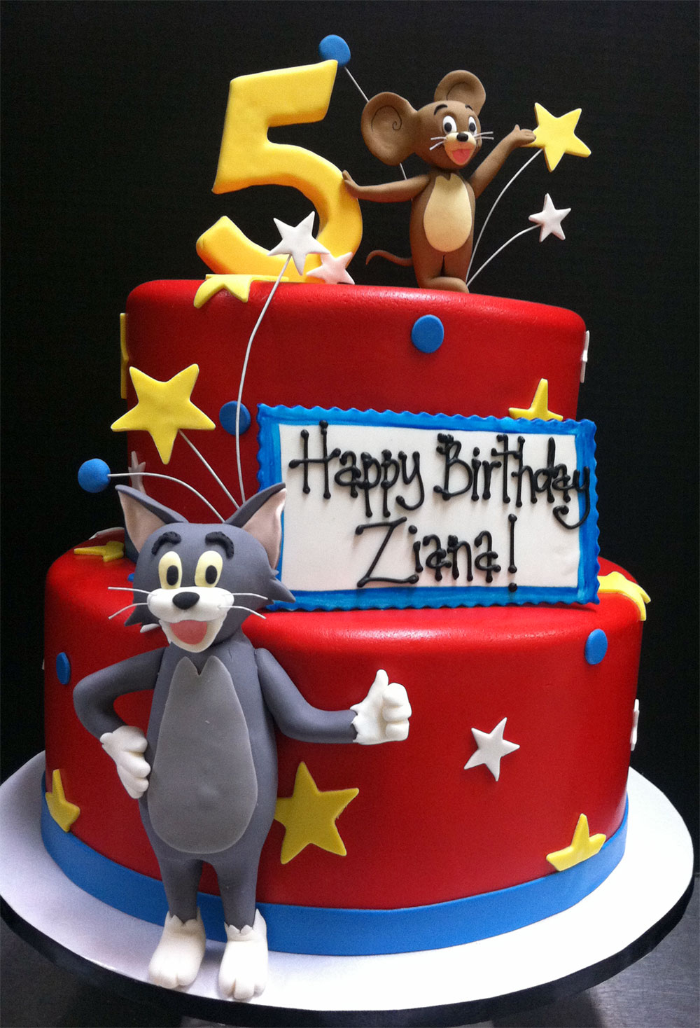 Tremendous 9 Tom N Jerry Cakes Photo Tom And Jerry Birthday Cake Ideas Tom Birthday Cards Printable Trancafe Filternl