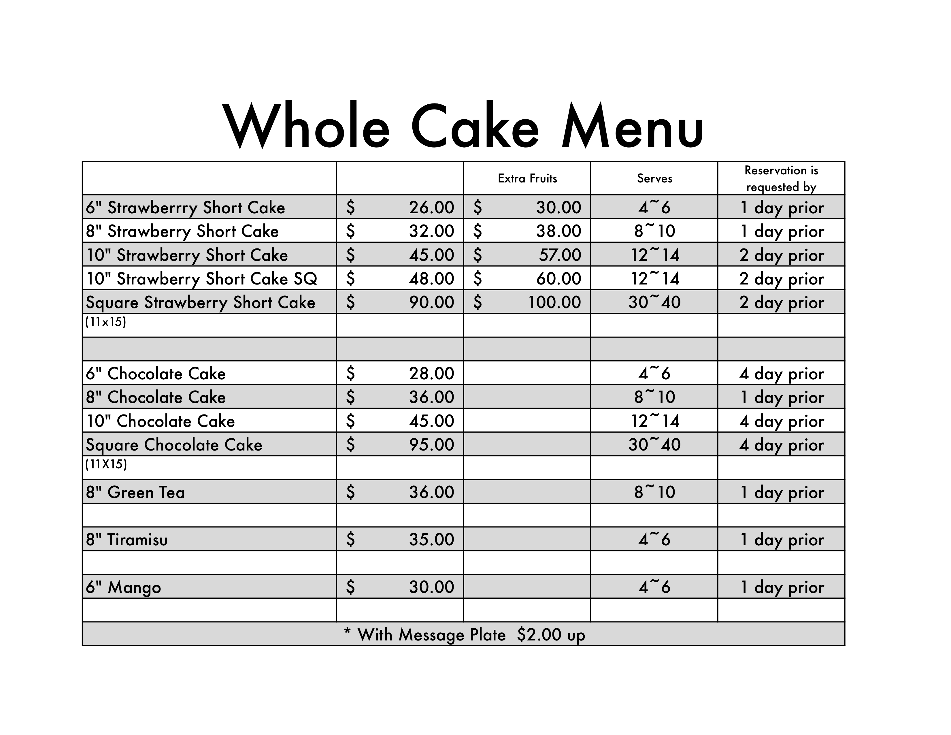 Whole Foods Bakery Birthday Cakes Prices