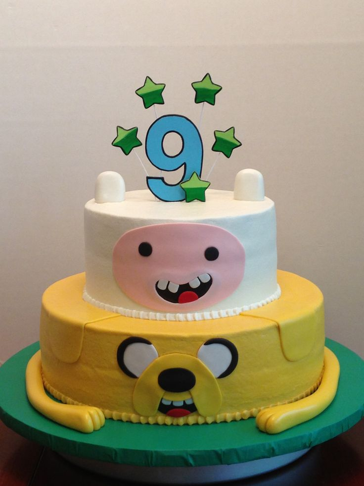 Cool 8 Adventure Time Fondant Cakes Photo Adventure Time Fondant Cake Personalised Birthday Cards Paralily Jamesorg