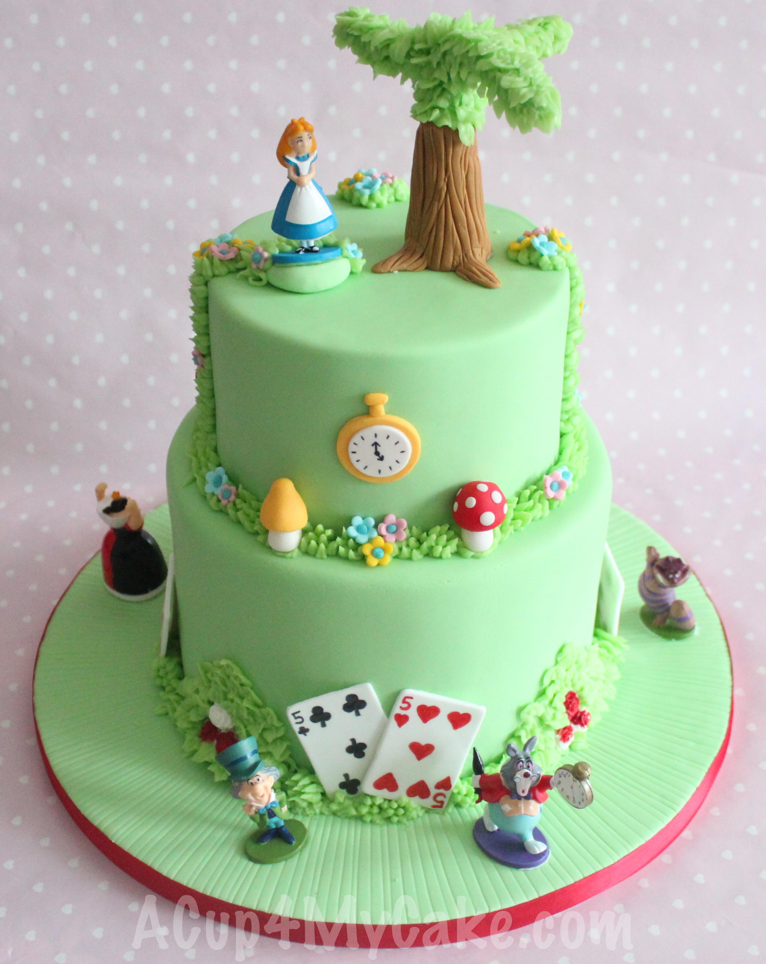11 Alice In Wonderland Themed Cakes Photo Alice And Wonderland
