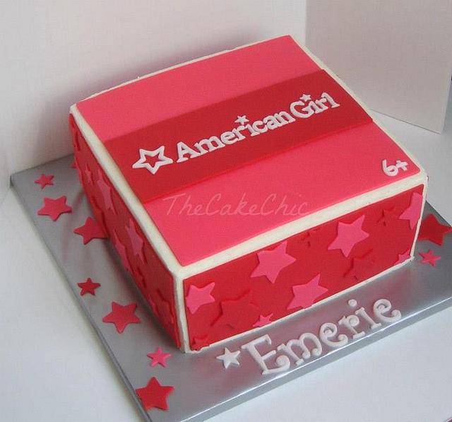 Astonishing 11 Box American Girl Birthday Cakes Photo American Girl Doll Funny Birthday Cards Online Elaedamsfinfo